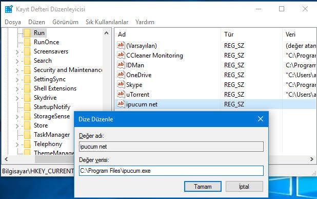 windows başlangıç program ekleme