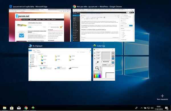 windows 10 yeni masaüstü
