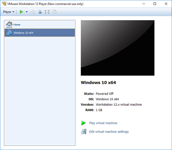 Windows 10 X64 sanal makine