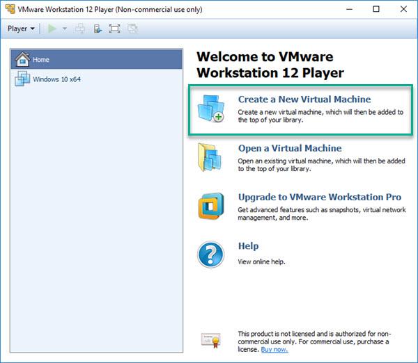 vmware workstation sanal makine oluşturma