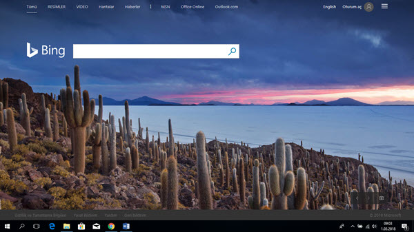 bing com wallpaper ayarlama