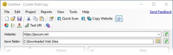 web sitesi indir kaydet webcopy