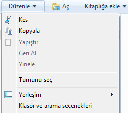 windows 7 dosya uzantıları gösterme