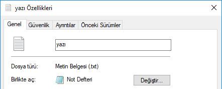 windows dosya adı uzantısı gösterme