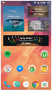android sayaç widget geri sayım