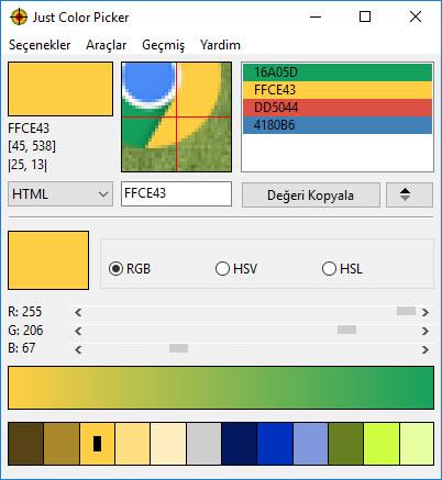 just color picker renk html kodu bulma programı