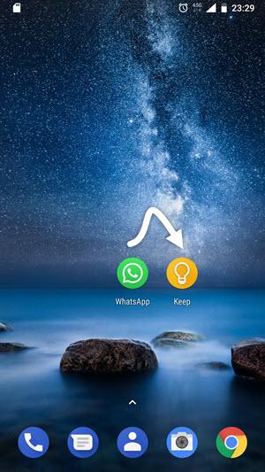 Android telefonda uygulamaları bir başlıkta toplayın