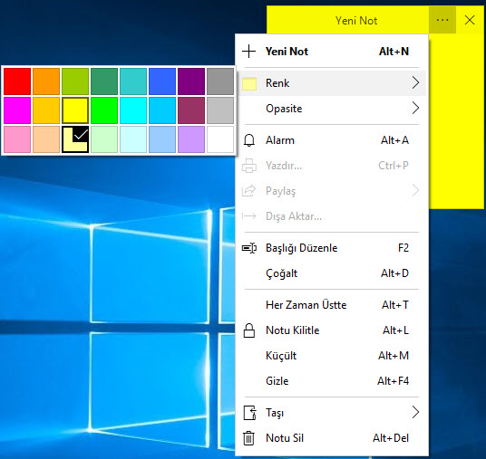simple sticky notes programı